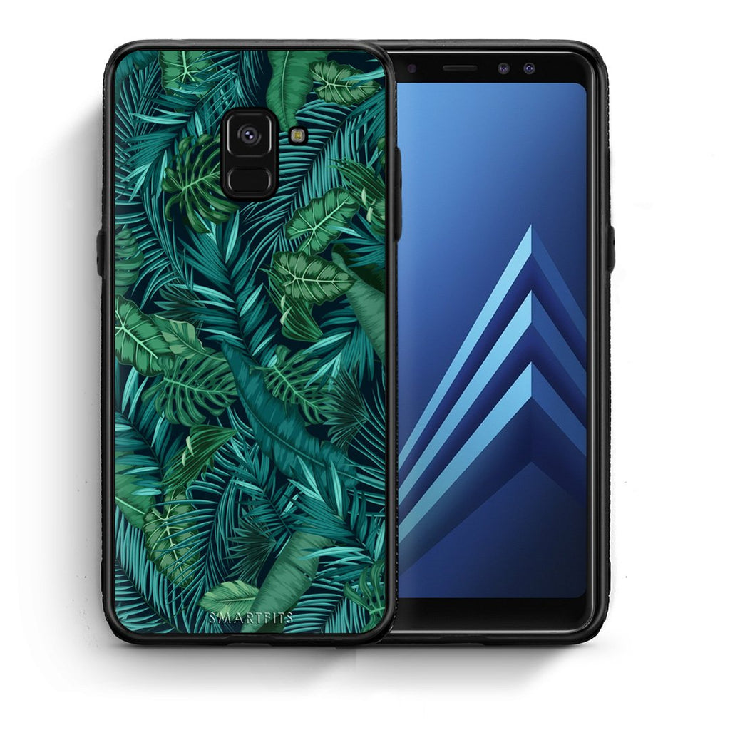 99 - Samsung A8  Tropic Leaves case, cover, bumper