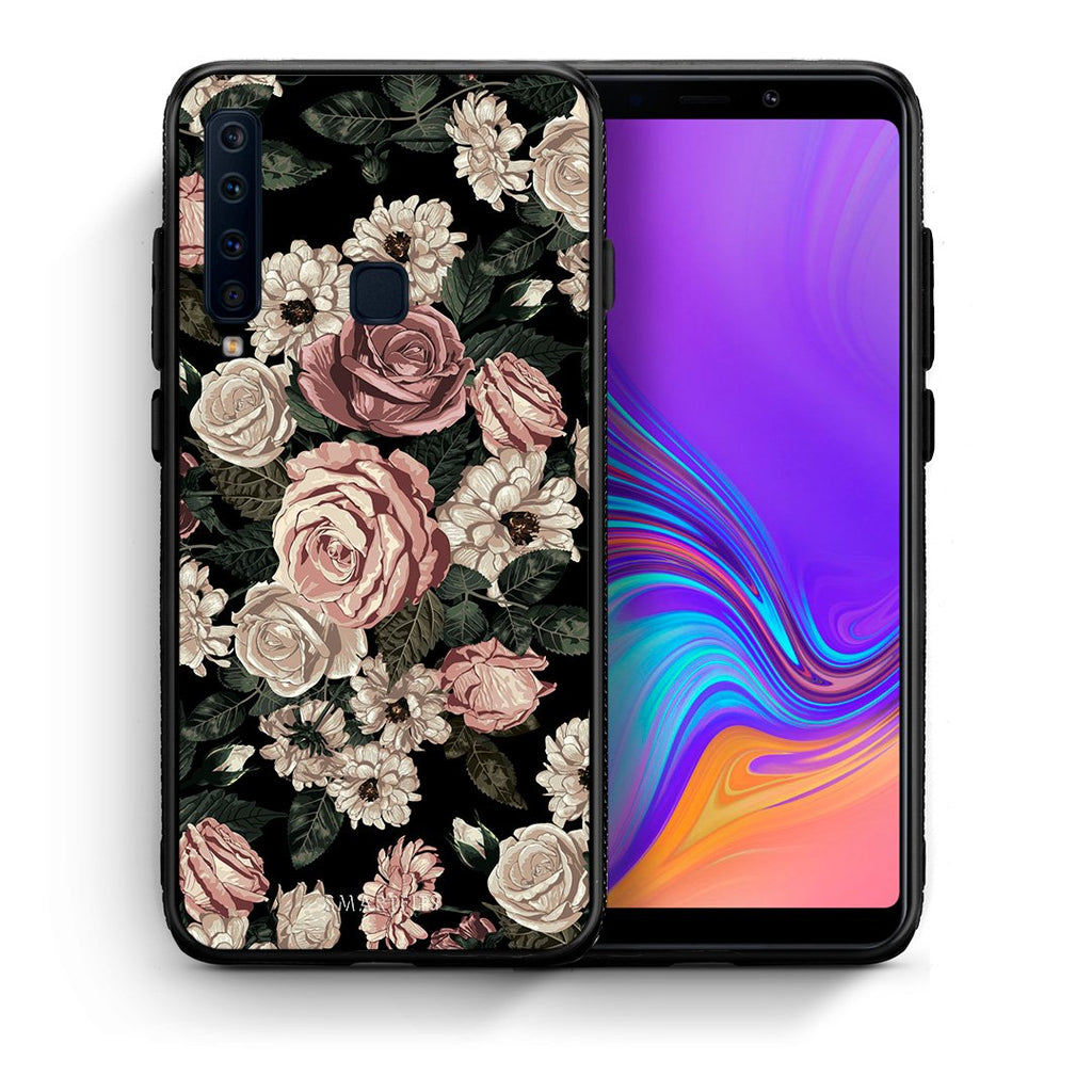 Θήκη Samsung A9 Wild Roses Flower από τη Smartfits με σχέδιο στο πίσω μέρος και μαύρο περίβλημα | Samsung A9 Wild Roses Flower case with colorful back and black bezels