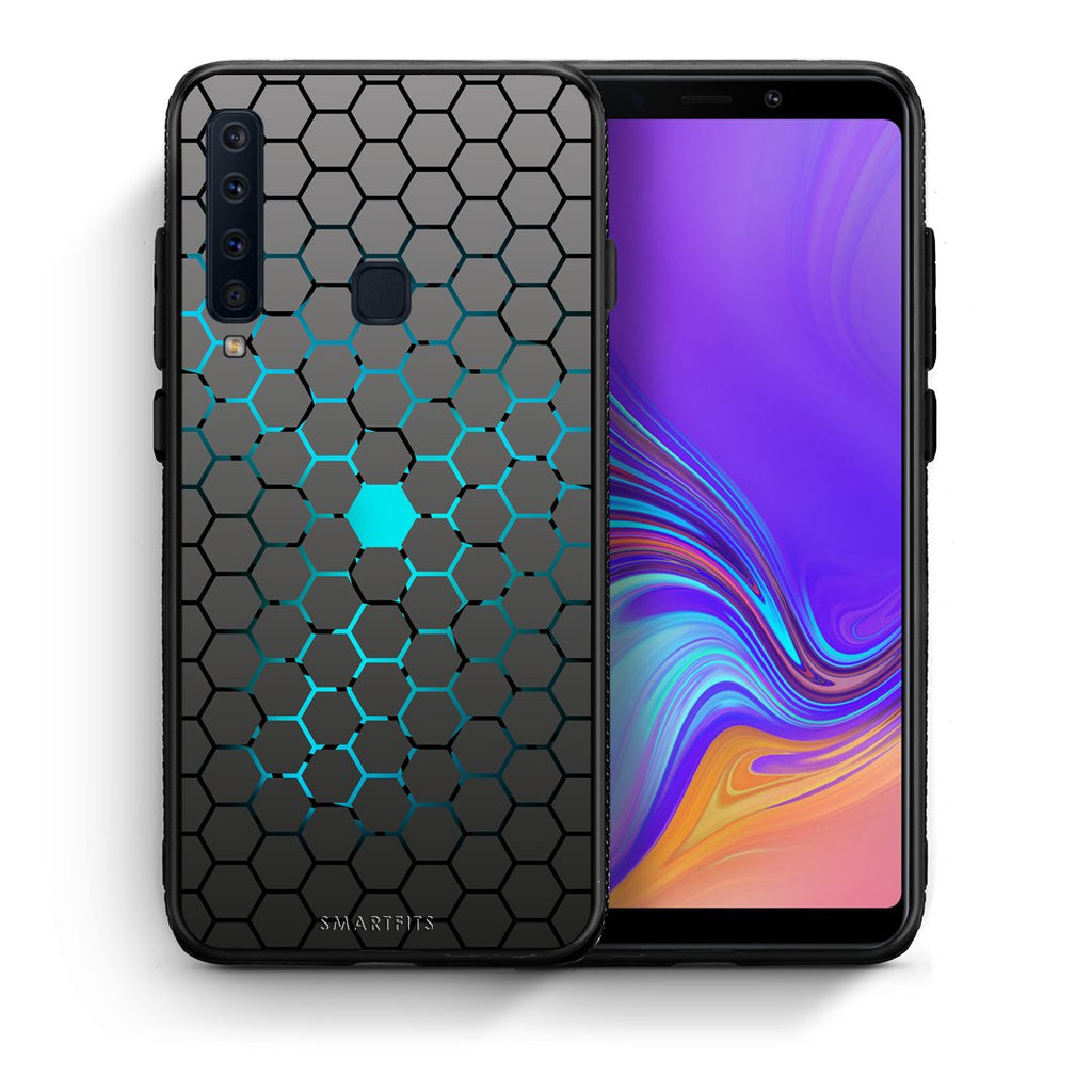 Θήκη Samsung A9 Hexagonal Geometric από τη Smartfits με σχέδιο στο πίσω μέρος και μαύρο περίβλημα | Samsung A9 Hexagonal Geometric case with colorful back and black bezels