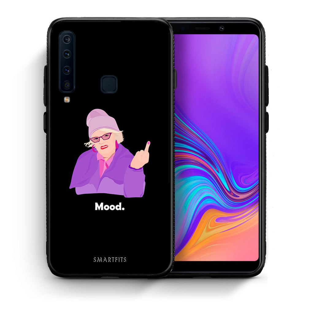 Θήκη Samsung A9 Grandma Mood Black από τη Smartfits με σχέδιο στο πίσω μέρος και μαύρο περίβλημα | Samsung A9 Grandma Mood Black case with colorful back and black bezels