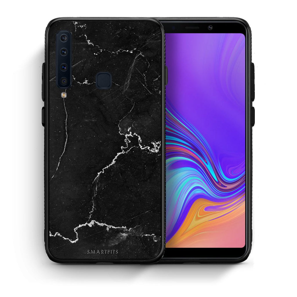 1 - samsung galaxy a9  black marble case, cover, bumper
