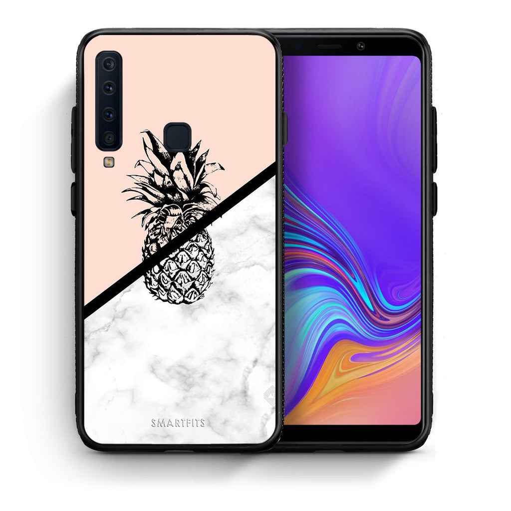 4 - samsung a9 Pineapple Marble case, cover, bumper