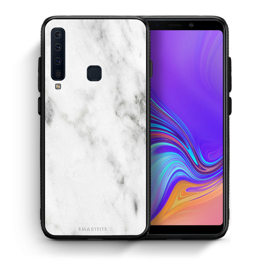 2 - samsung galaxy a9  White marble case, cover, bumper