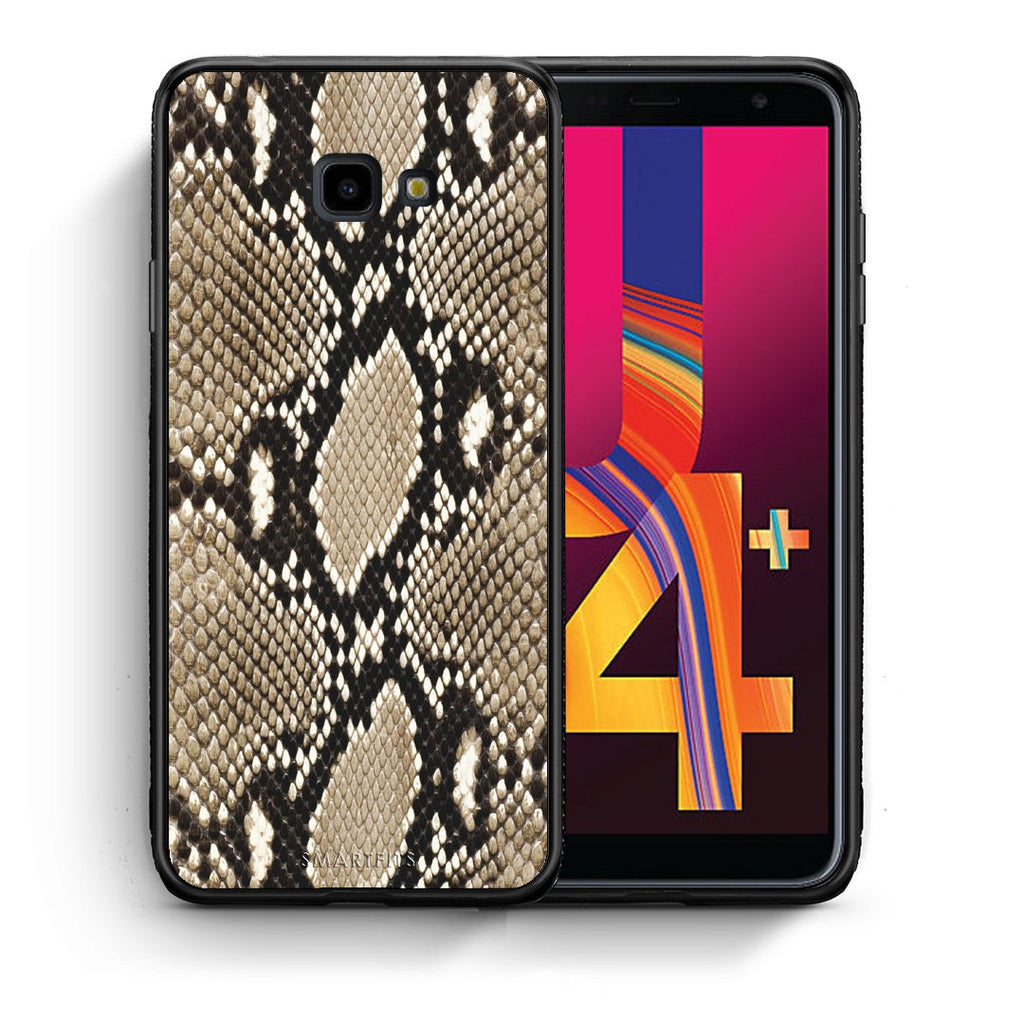 23 - Samsung J4 Plus Fashion Snake Animal case, cover, bumper