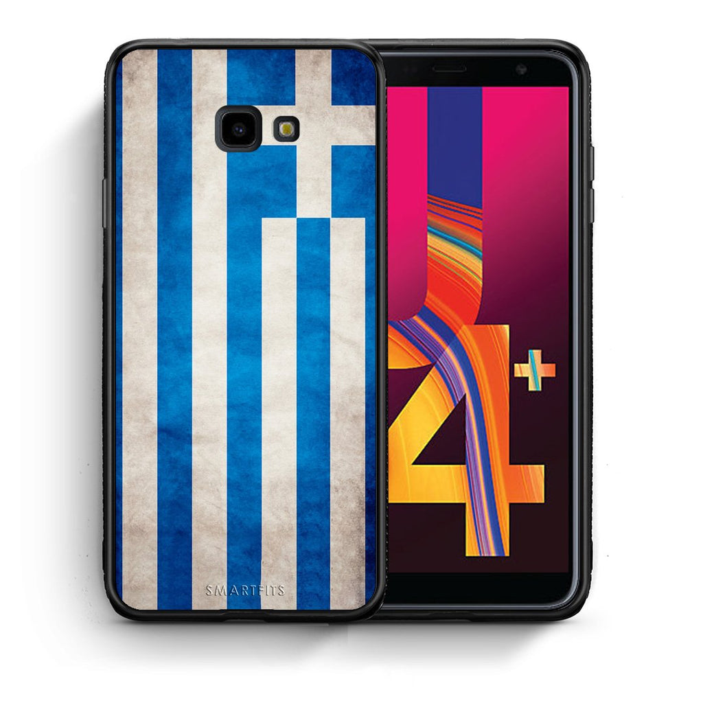 4 - Samsung J4 Plus Greece Flag case, cover, bumper