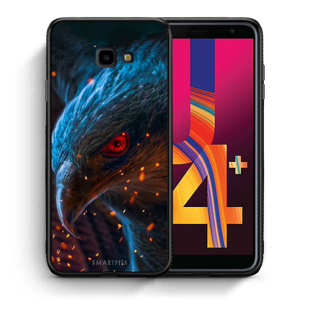 4 - Samsung J4 Plus Eagle PopArt case, cover, bumper
