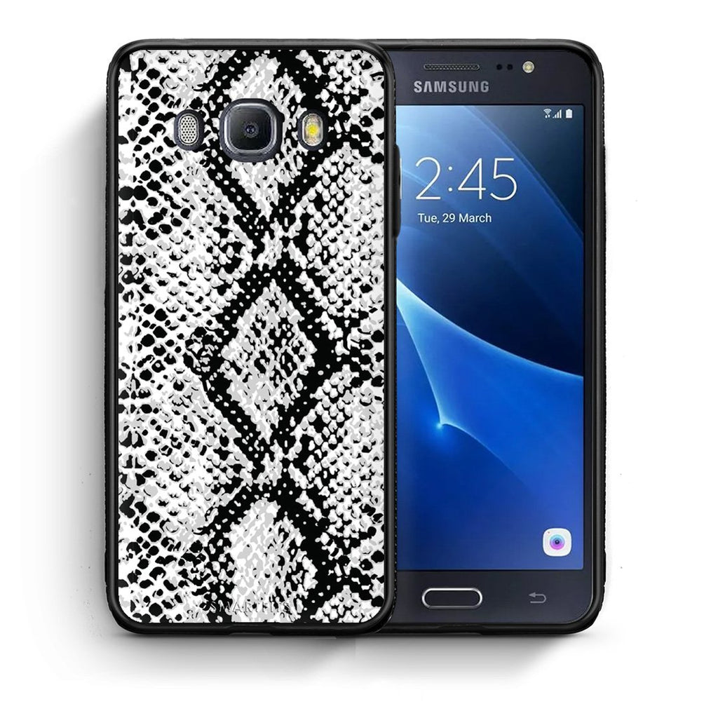 24 - Samsung J7 2016 White Snake Animal case, cover, bumper