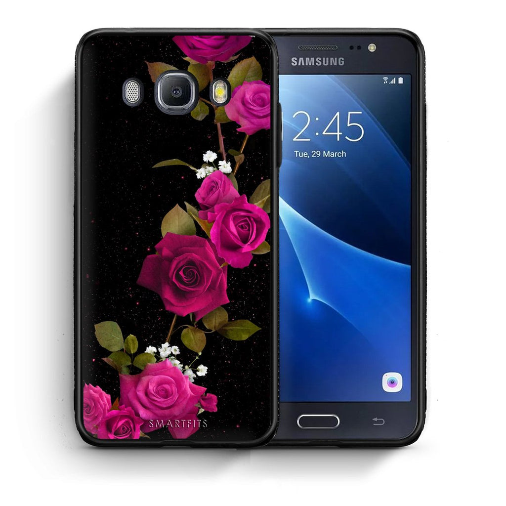 4 - Samsung J7 2016 Red Roses Flower case, cover, bumper