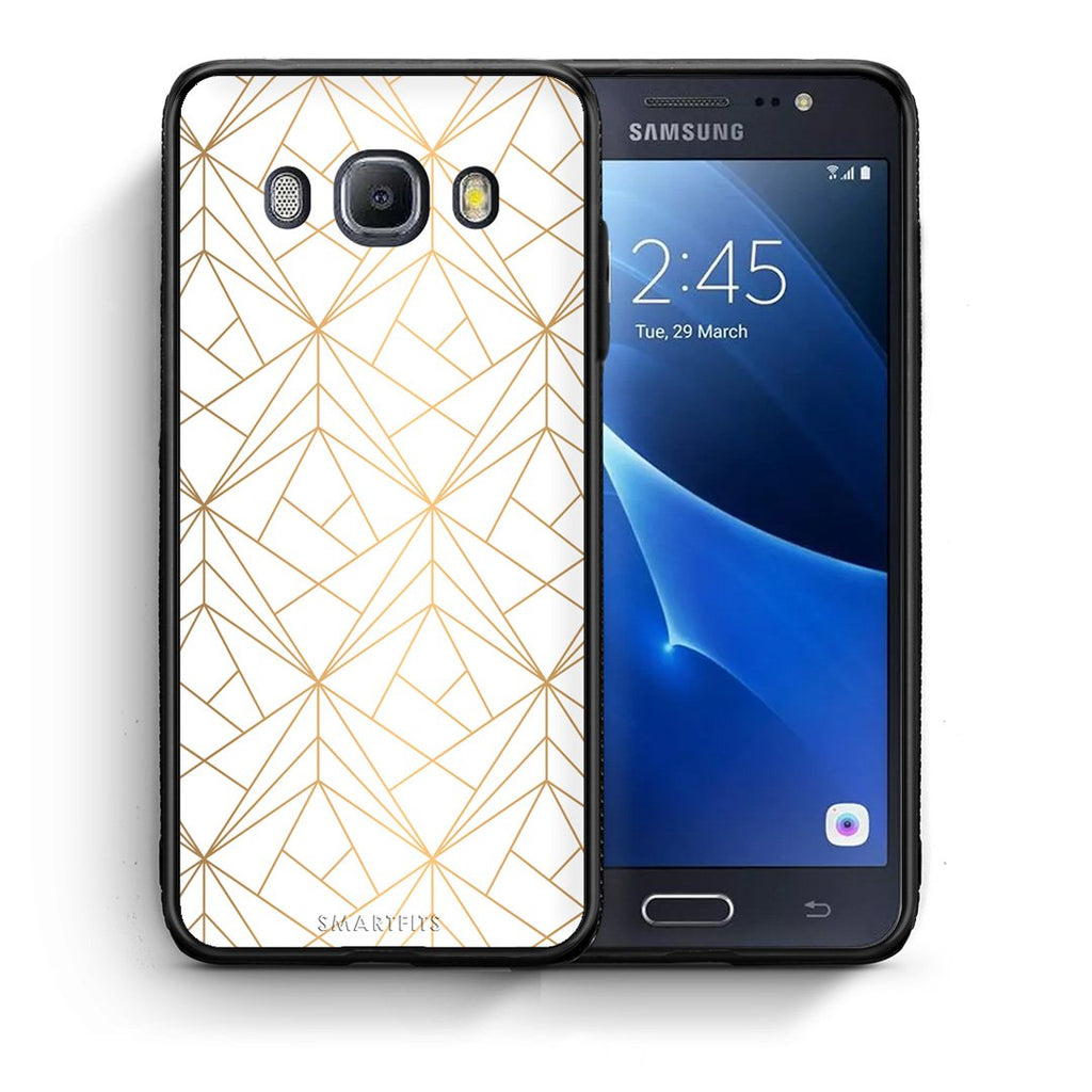 111 - Samsung J7 2016 Luxury White Geometric case, cover, bumper