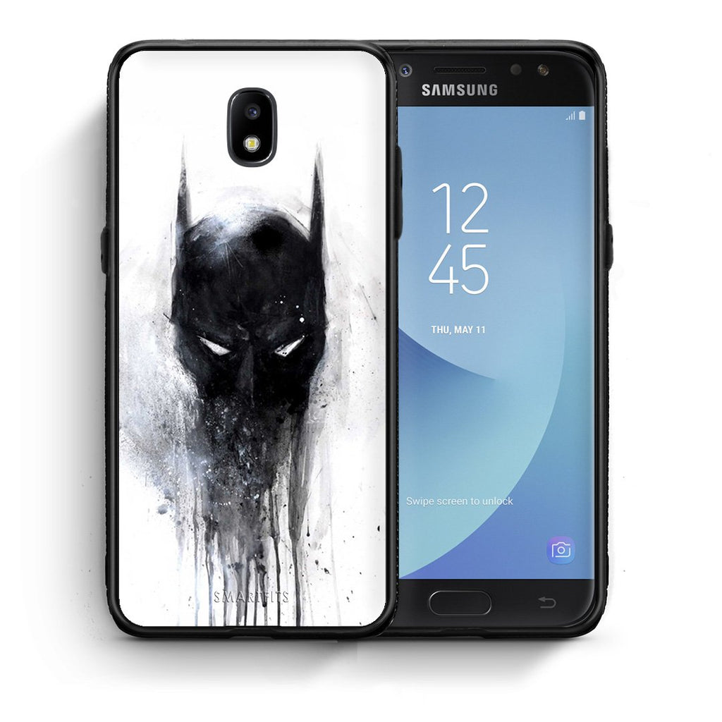 4 - Samsung J7 2017 Paint Bat Hero case, cover, bumper
