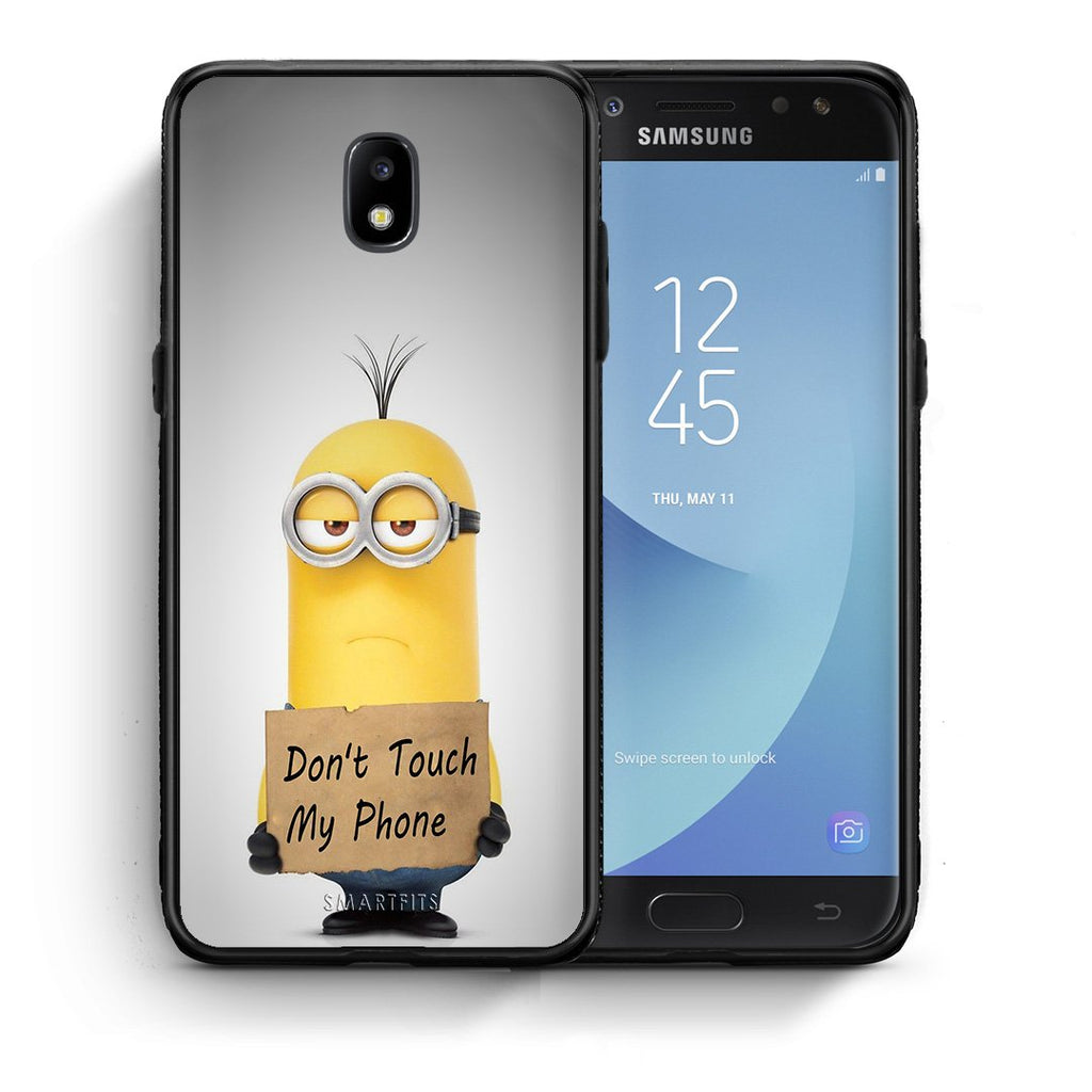 4 - Samsung J7 2017 Minion Text case, cover, bumper