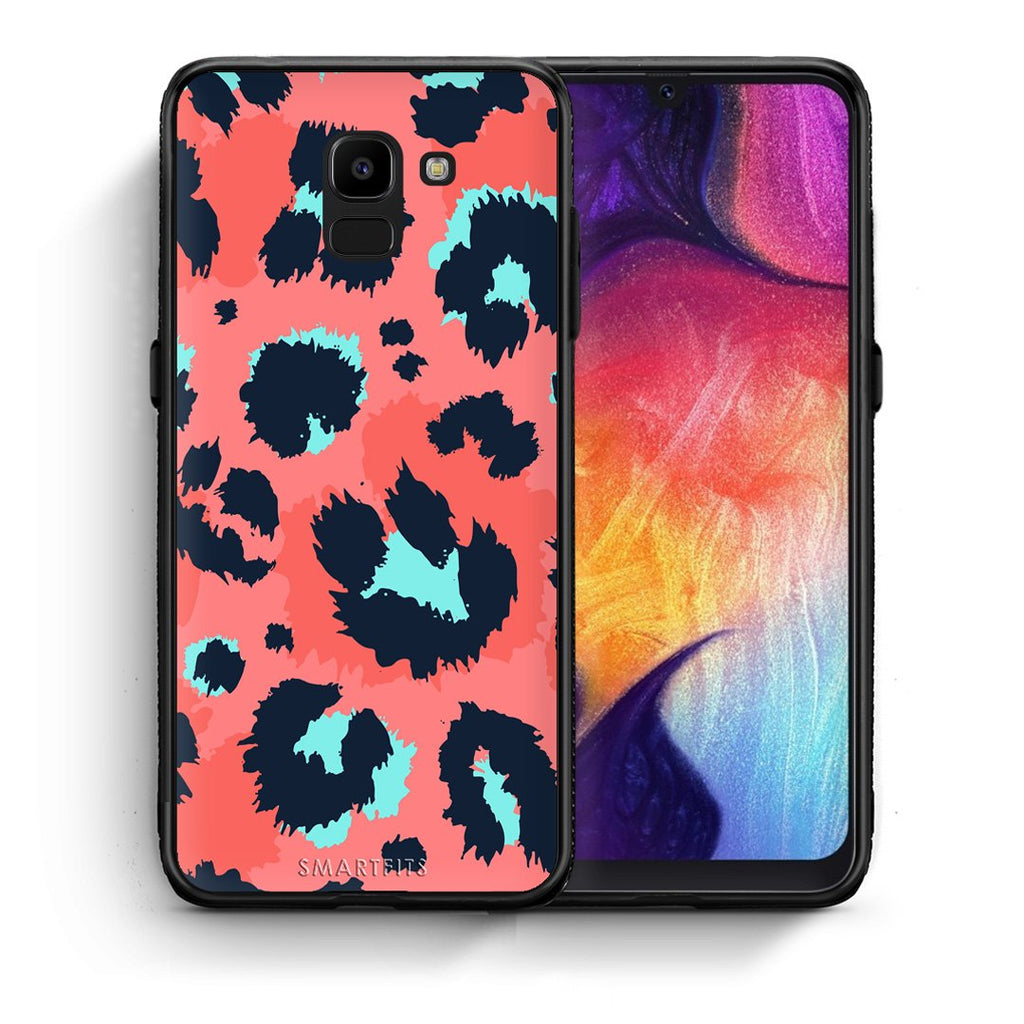 22 - samsung Galaxy J6 Pink Leopard Animal case, cover, bumper