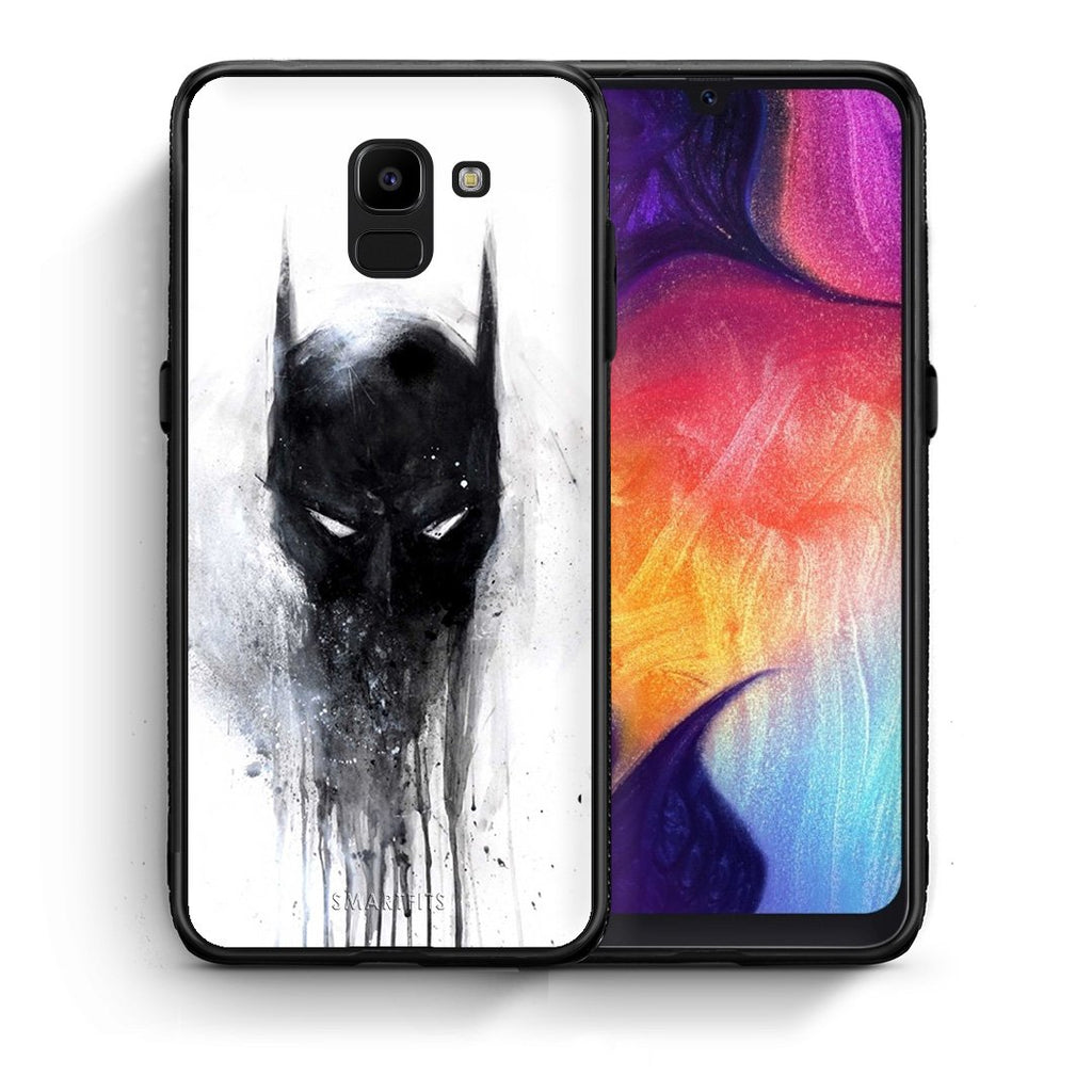 4 - samsung J6 Paint Bat Hero case, cover, bumper