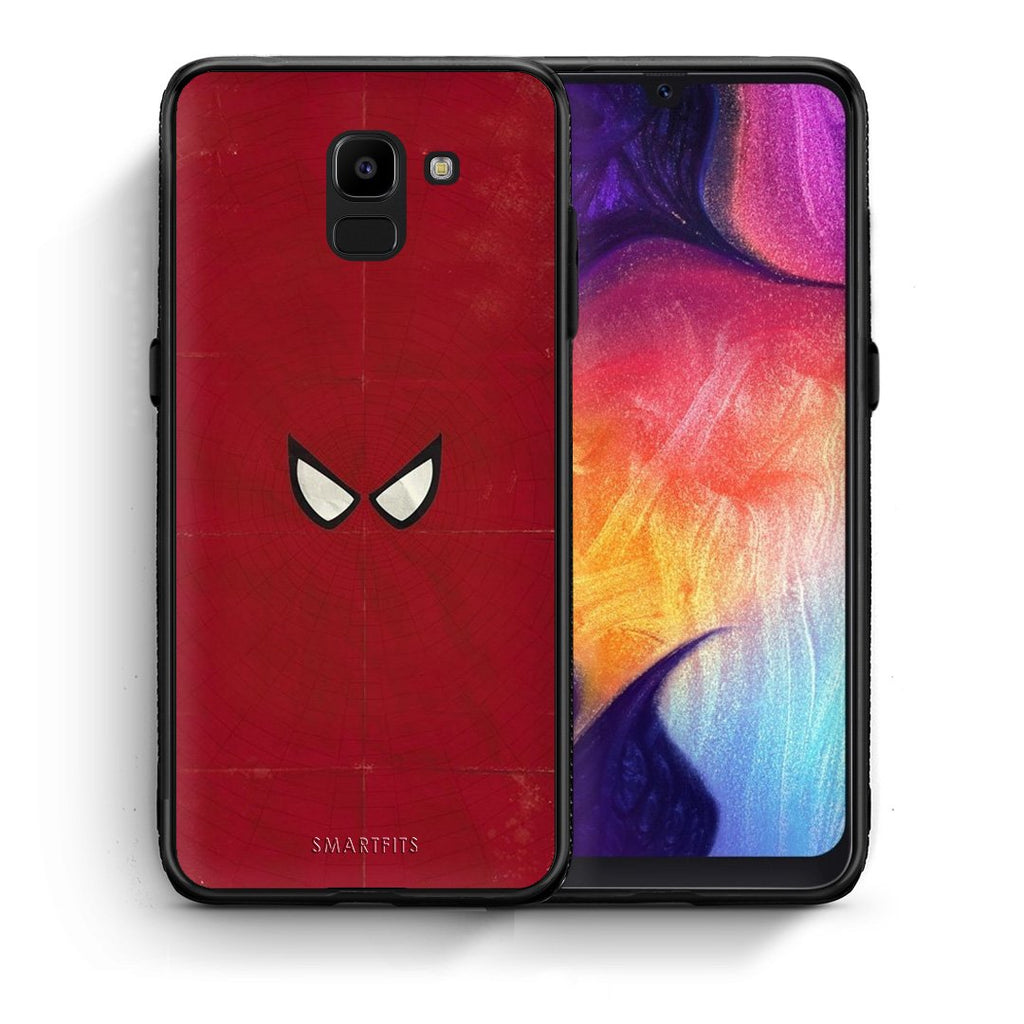 4 - samsung J6 Spider Eyes Hero case, cover, bumper