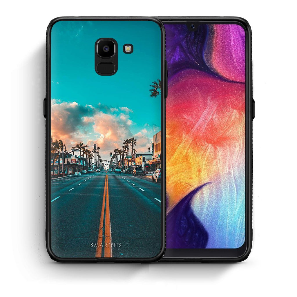 4 - samsung J6 City Landscape case, cover, bumper