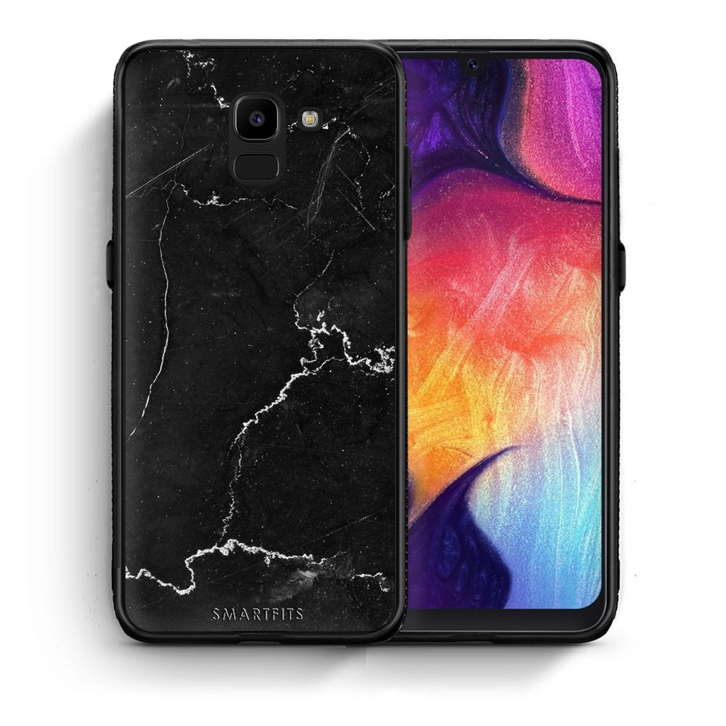 1 - samsung Galaxy J6 black marble case, cover, bumper