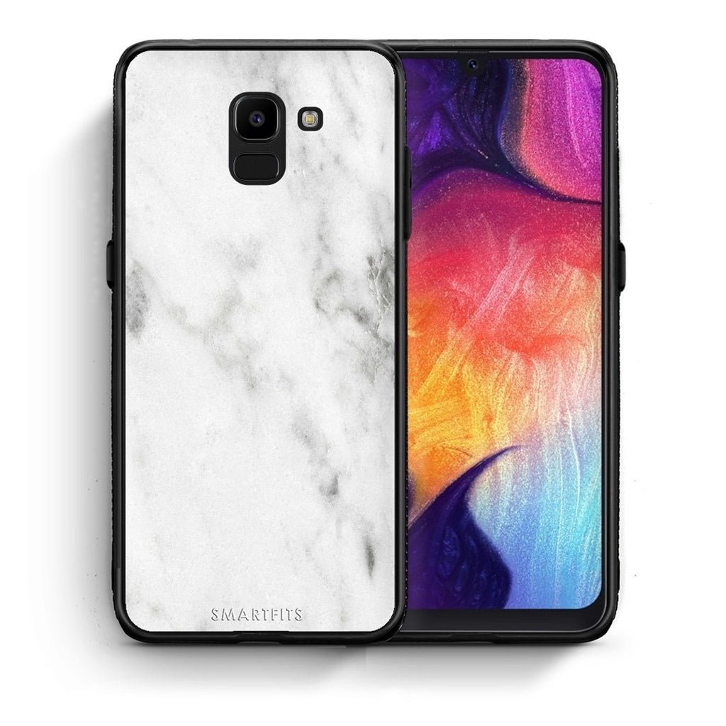 2 - samsung Galaxy J6 White marble case, cover, bumper