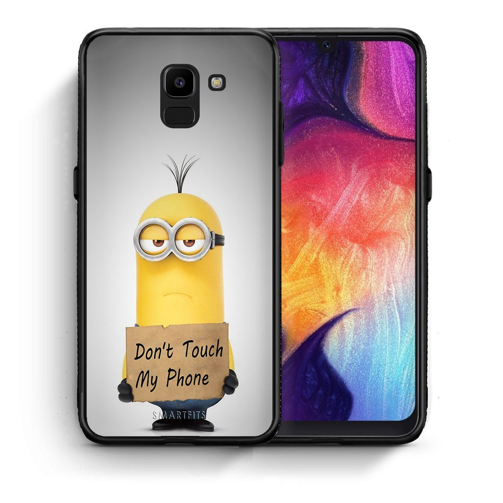 4 - samsung J6 Minion Text case, cover, bumper