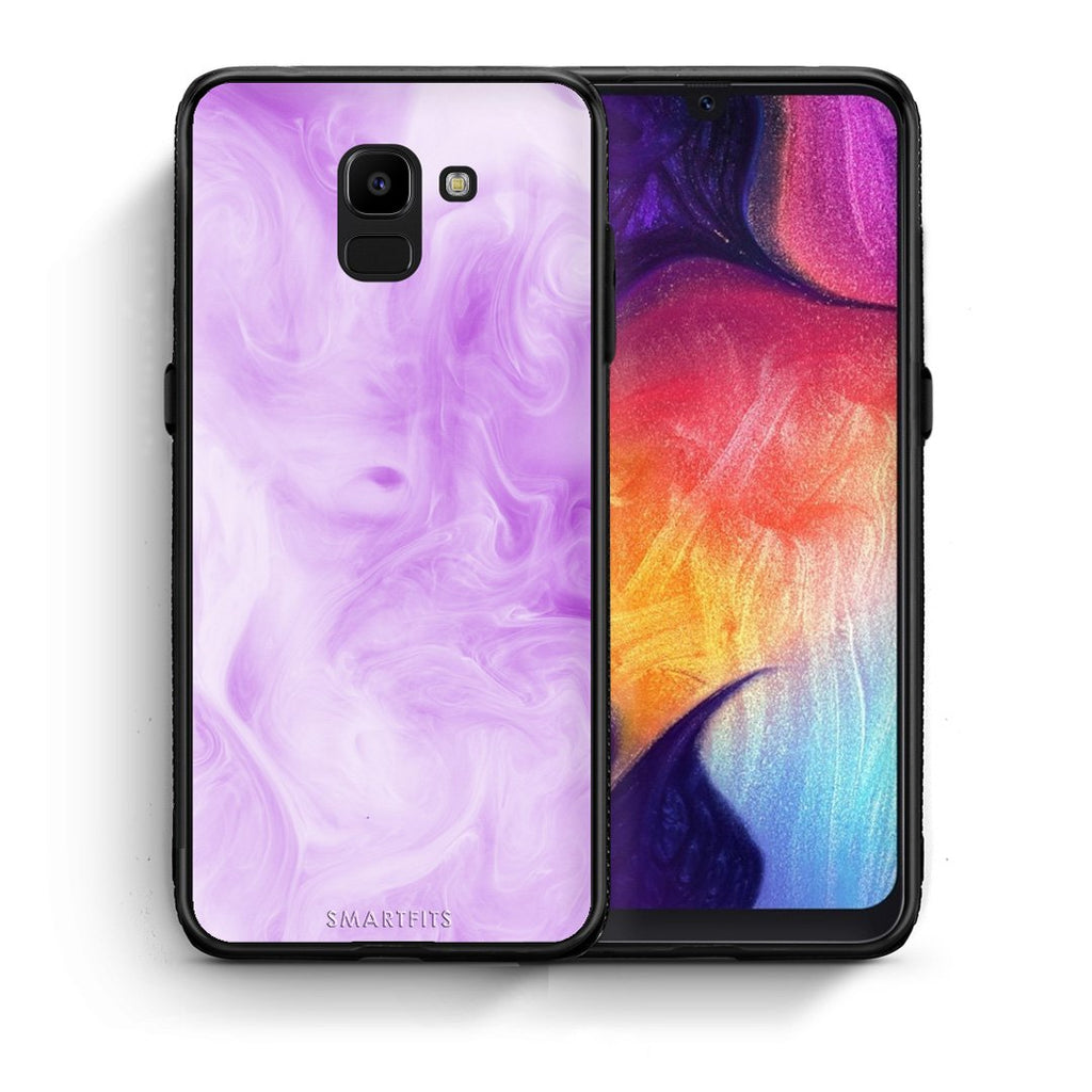99 - samsung Galaxy J6 Watercolor Lavender case, cover, bumper