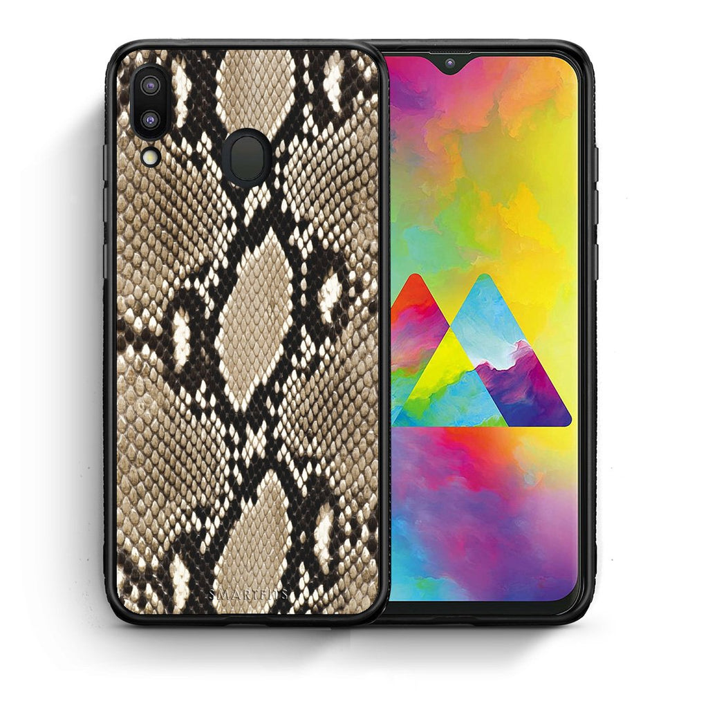 23 - Samsung M20 Fashion Snake Animal case, cover, bumper