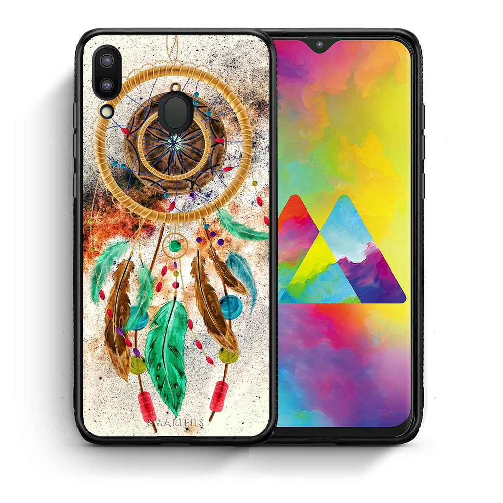 4 - Samsung M20 DreamCatcher Boho case, cover, bumper