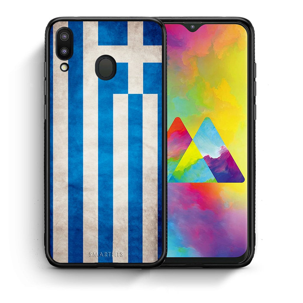 4 - Samsung M20 Greece Flag case, cover, bumper