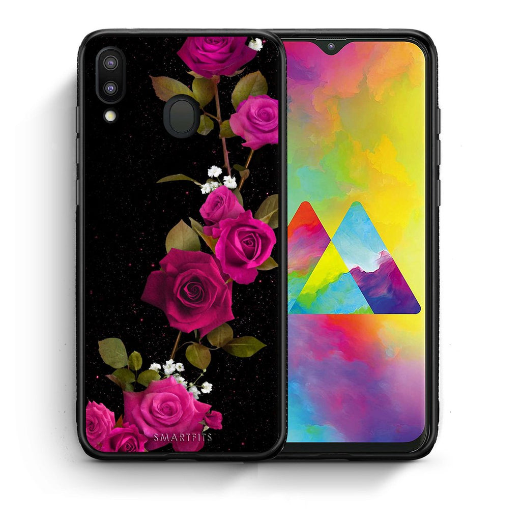 4 - Samsung M20 Red Roses Flower case, cover, bumper