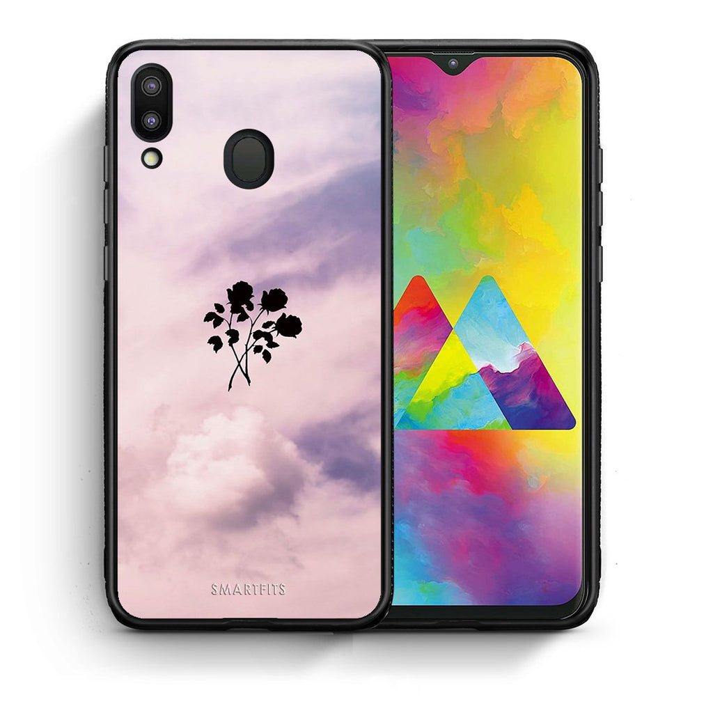 4 - Samsung M20 Sky Flower case, cover, bumper