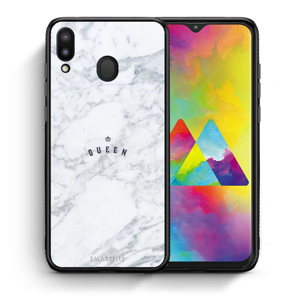 4 - Samsung M20 Queen Marble case, cover, bumper