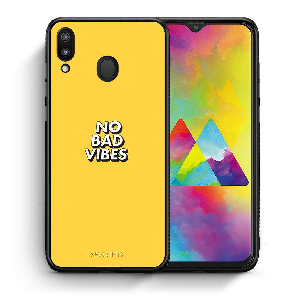 4 - Samsung M20 Vibes Text case, cover, bumper