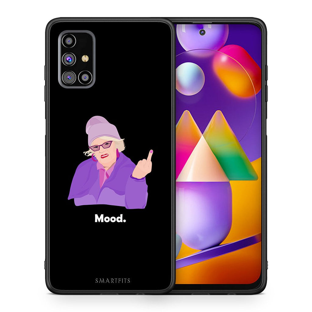Θήκη Samsung M31s Grandma Mood Black από τη Smartfits με σχέδιο στο πίσω μέρος και μαύρο περίβλημα | Samsung M31s Grandma Mood Black case with colorful back and black bezels