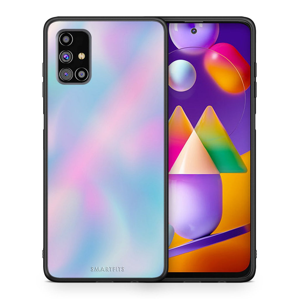 Θήκη Samsung M31s Rainbow Watercolor από τη Smartfits με σχέδιο στο πίσω μέρος και μαύρο περίβλημα | Samsung M31s Rainbow Watercolor case with colorful back and black bezels