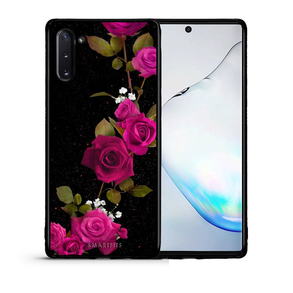 4 - Samsung Note 10 Red Roses Flower case, cover, bumper