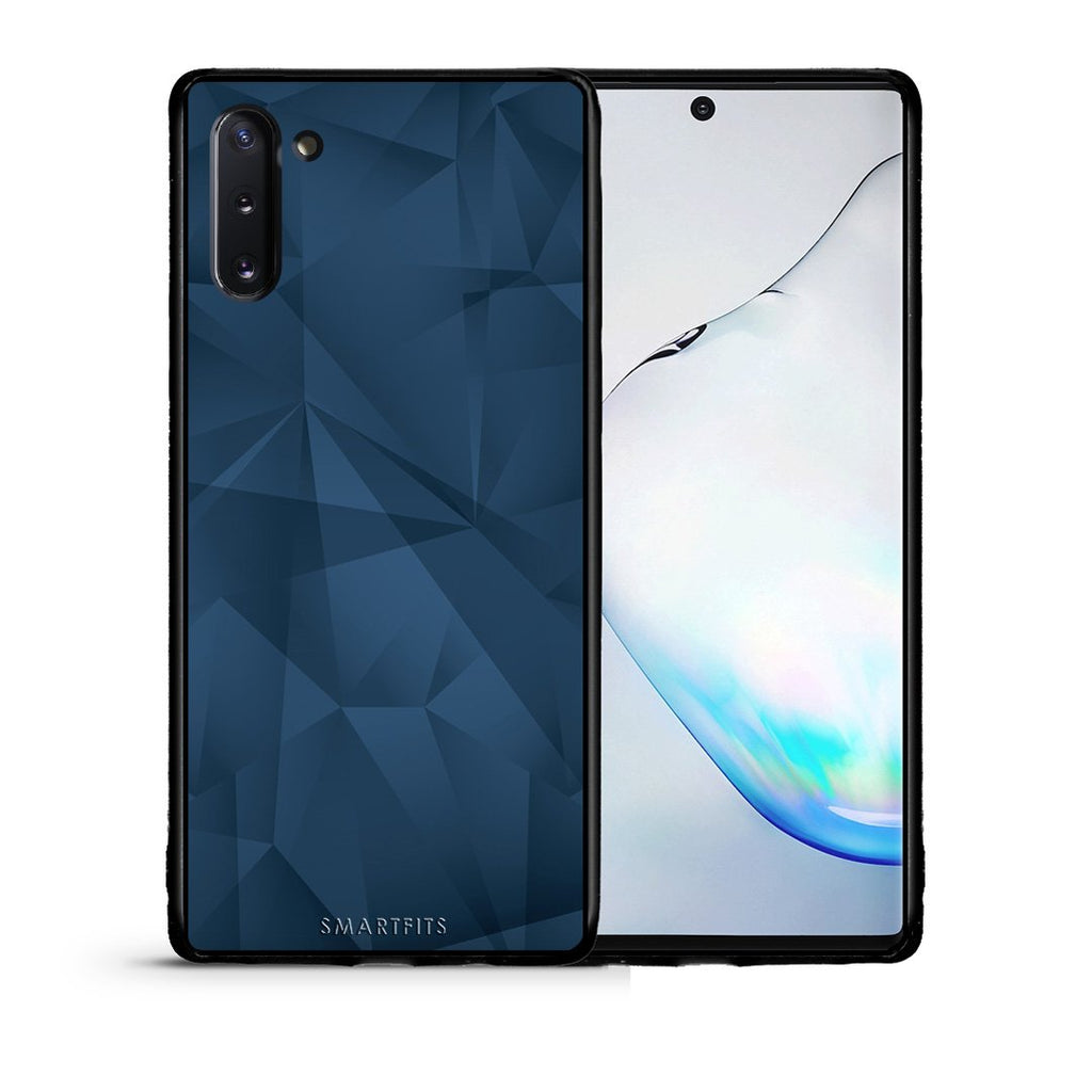 39 - Samsung Note 10  Blue Abstract Geometric case, cover, bumper