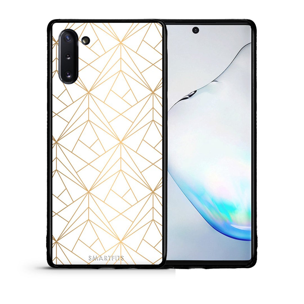 111 - Samsung Note 10  Luxury White Geometric case, cover, bumper