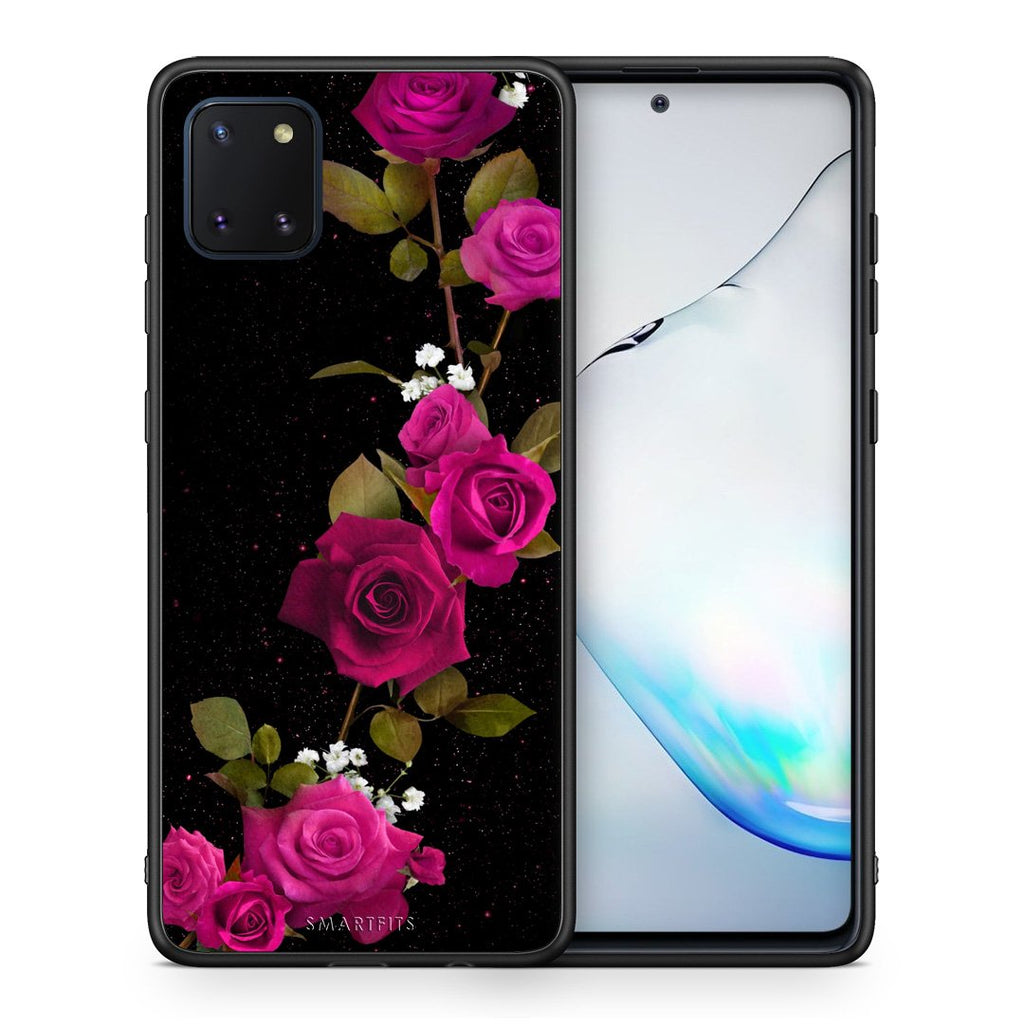 4 - Samsung Note 10 Lite Red Roses Flower case, cover, bumper