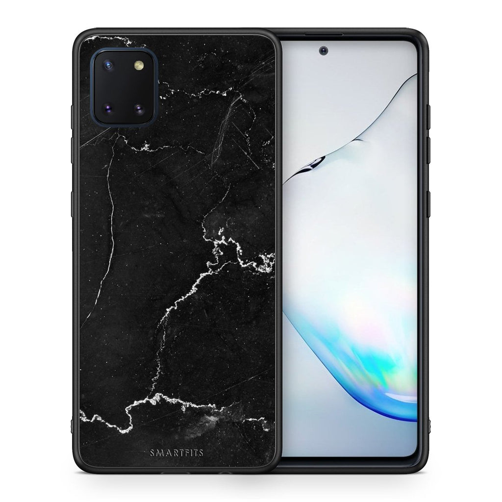 1 - Samsung Note 10 Lite black marble case, cover, bumper