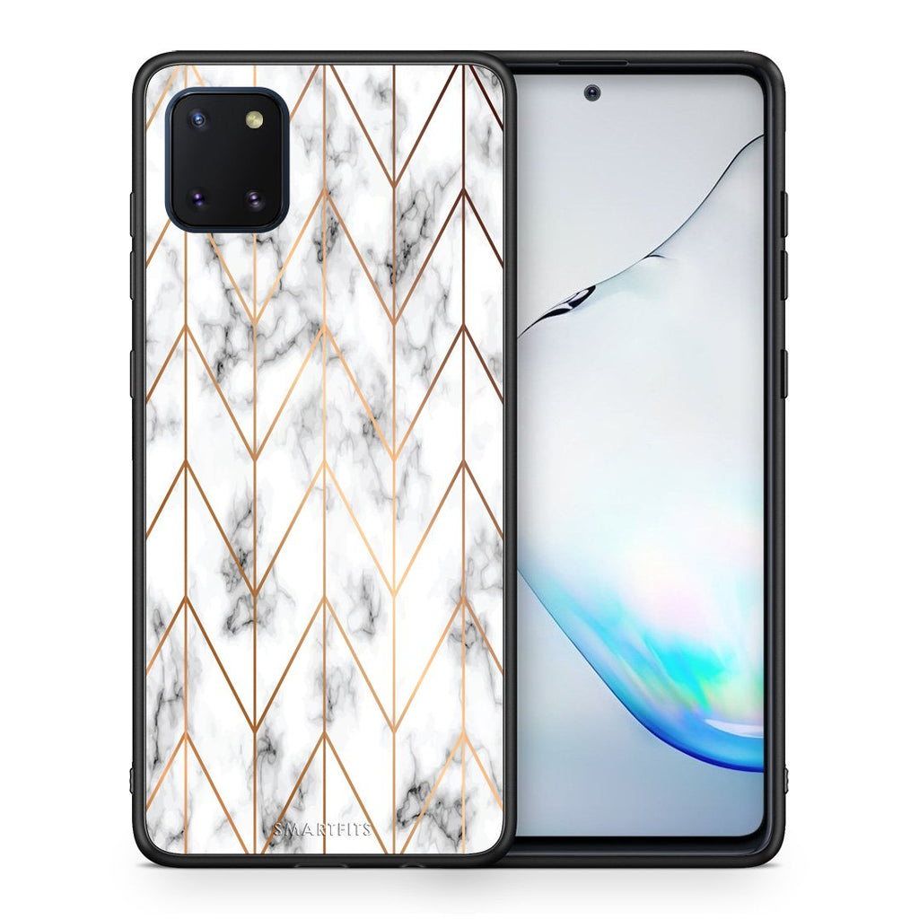 44 - Samsung Note 10 Lite Gold Geometric Marble case, cover, bumper