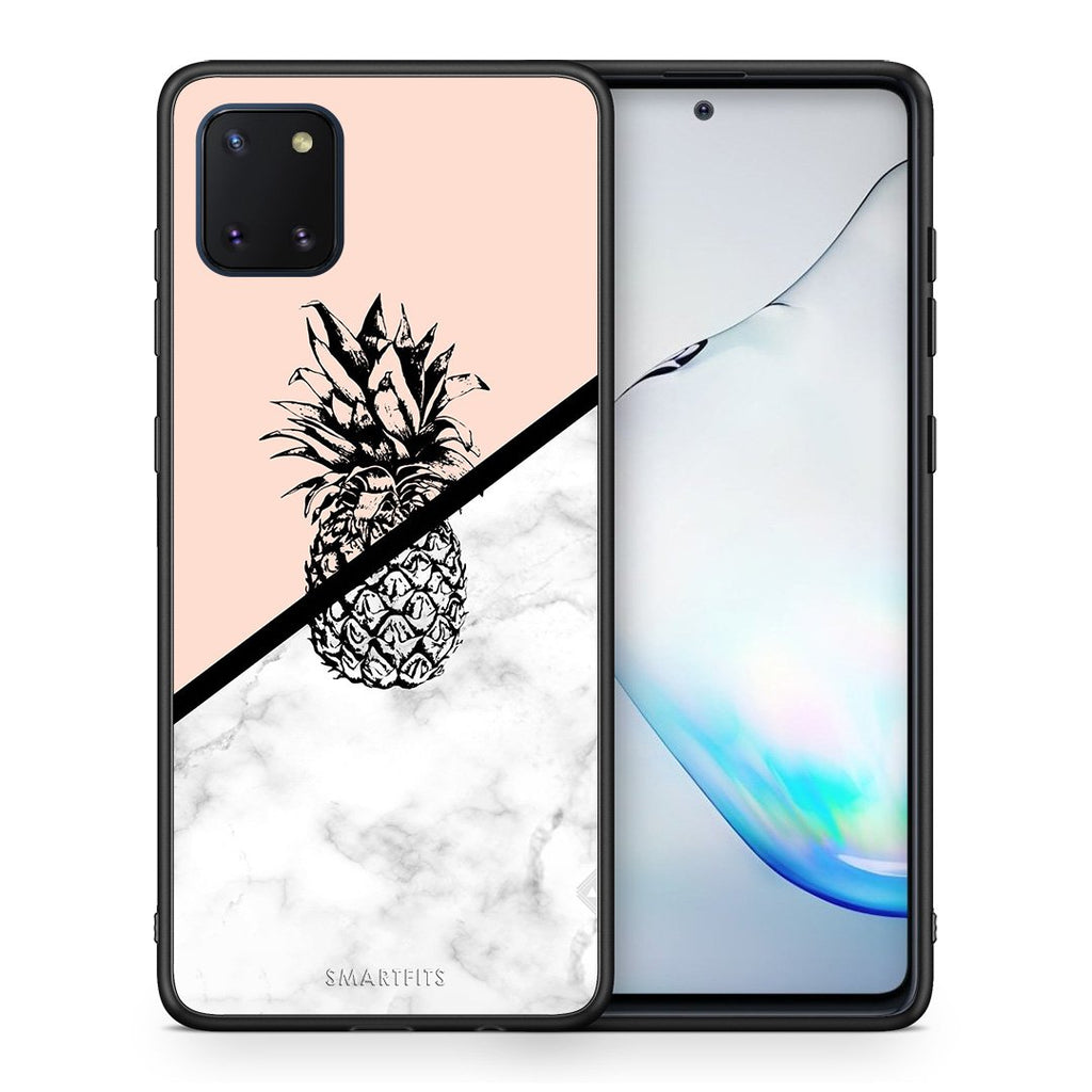 4 - Samsung Note 10 Lite Pineapple Marble case, cover, bumper