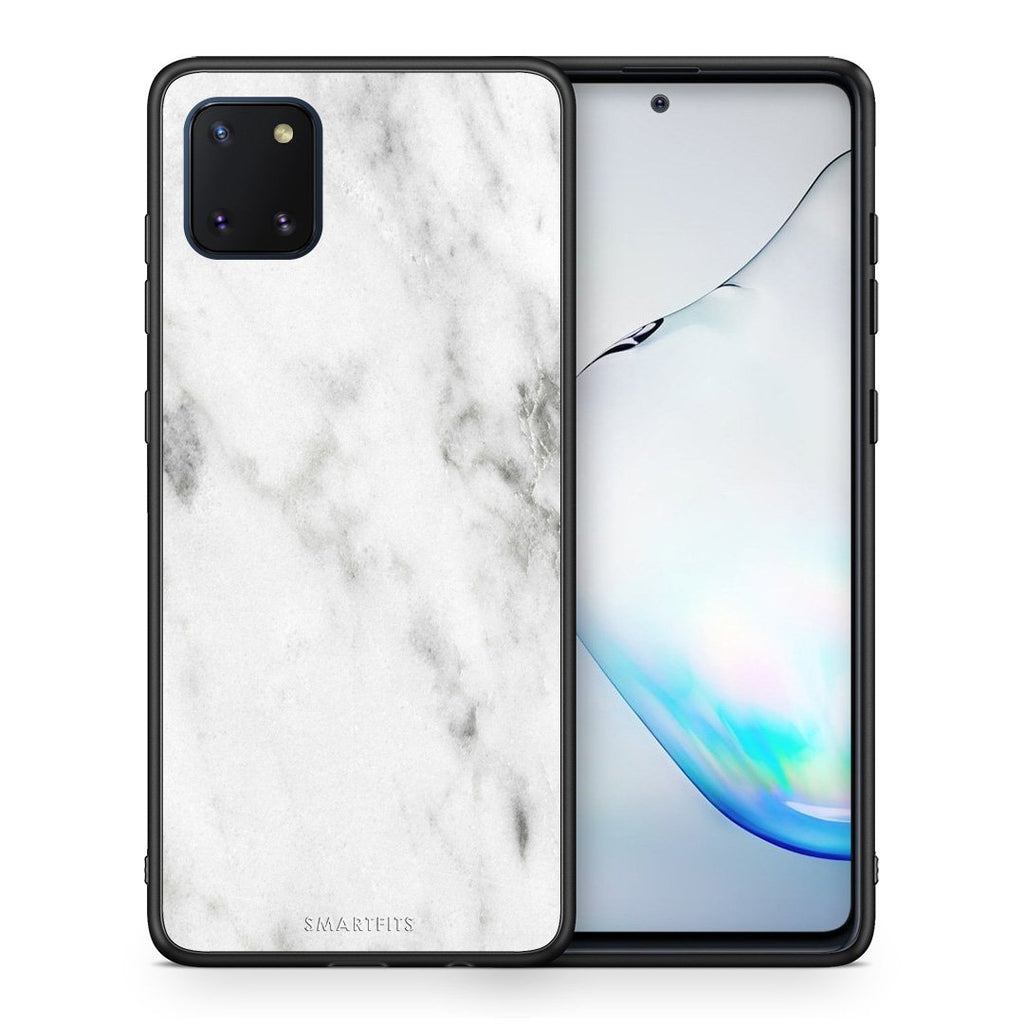 2 - Samsung Note 10 Lite White marble case, cover, bumper