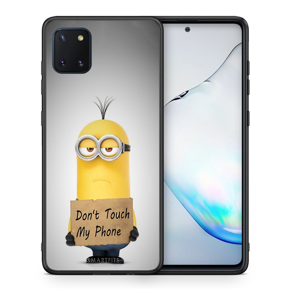 4 - Samsung Note 10 Lite Minion Text case, cover, bumper