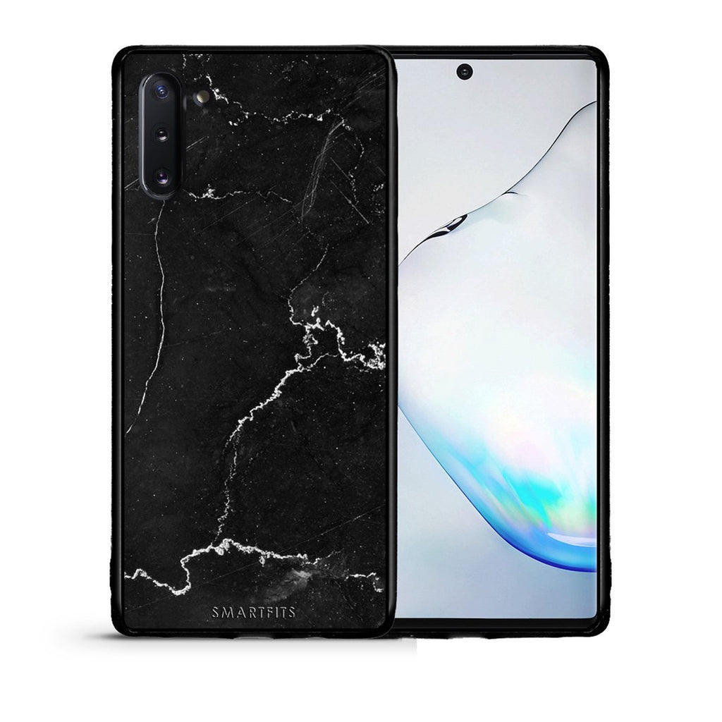 1 - Samsung Note 10  black marble case, cover, bumper