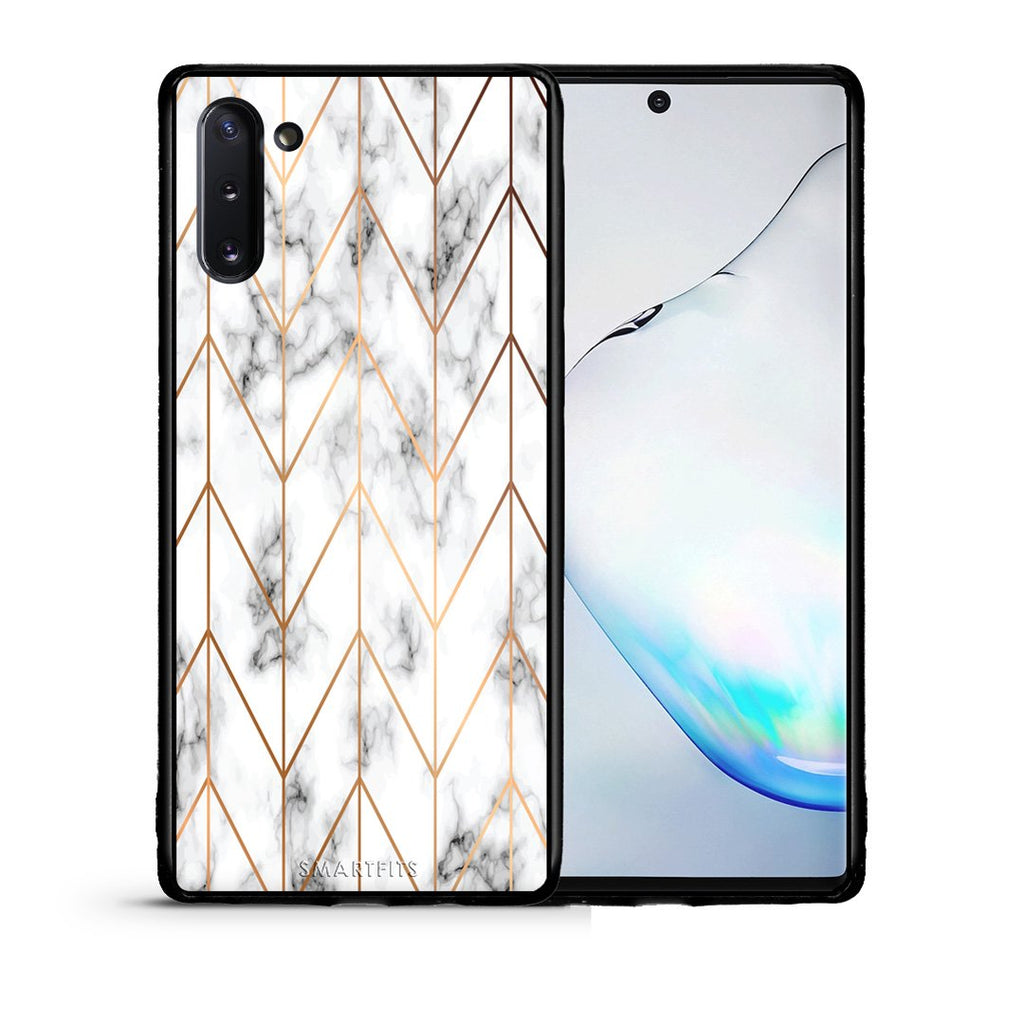 44 - Samsung Note 10  Gold Geometric Marble case, cover, bumper