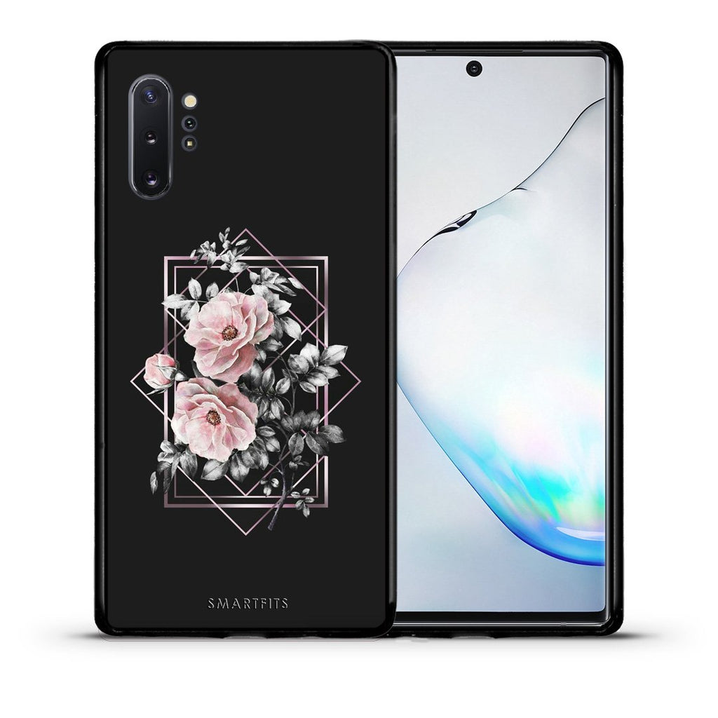 4 - Samsung Note 10+ Frame Flower case, cover, bumper