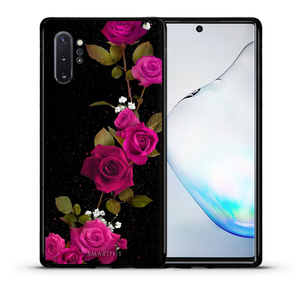 4 - Samsung Note 10+ Red Roses Flower case, cover, bumper