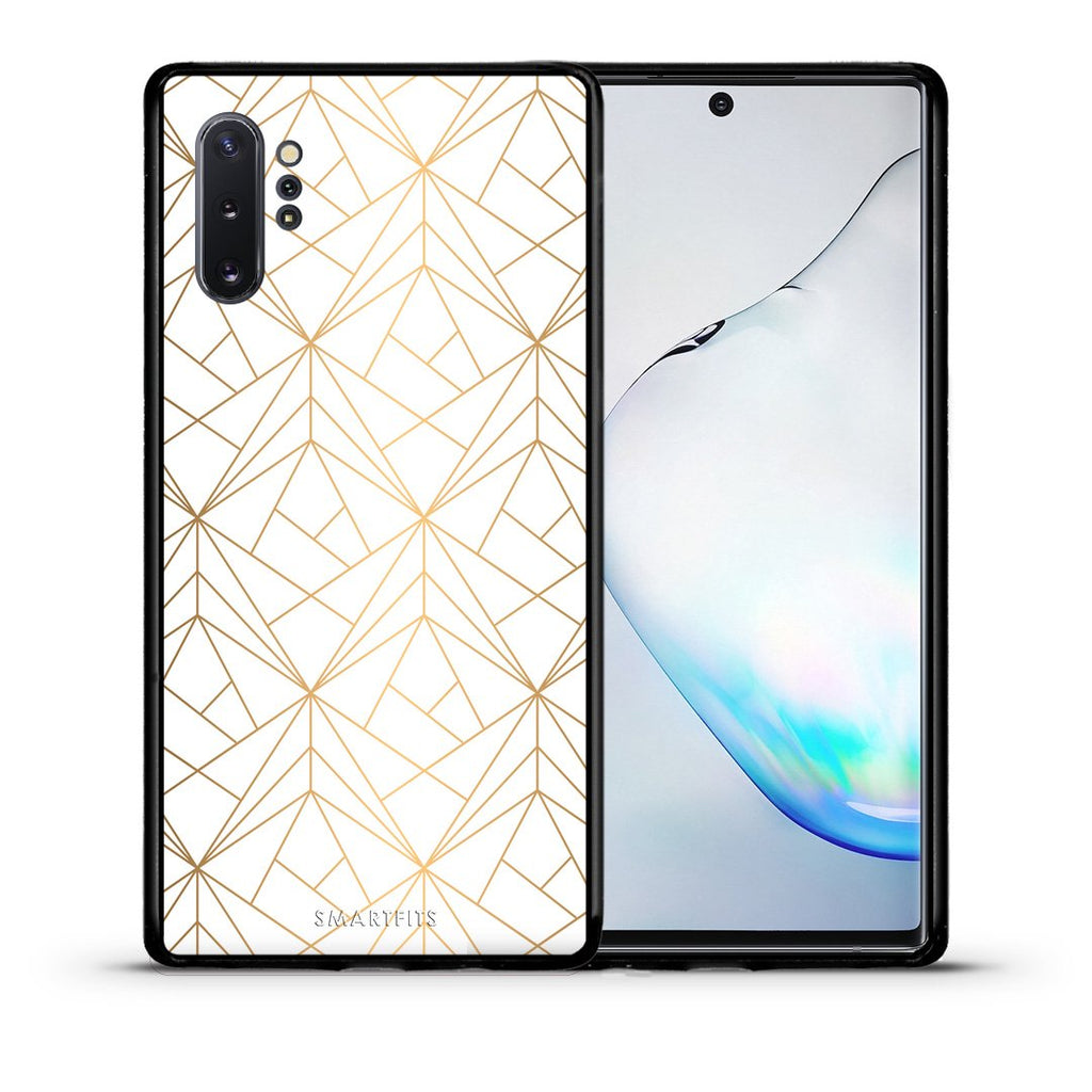 111 - Samsung Note 10+ Luxury White Geometric case, cover, bumper