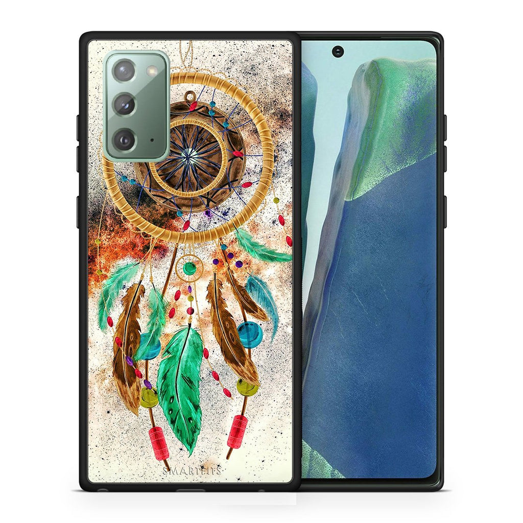 Θήκη Samsung Note 20 DreamCatcher Boho από τη Smartfits με σχέδιο στο πίσω μέρος και μαύρο περίβλημα | Samsung Note 20 DreamCatcher Boho case with colorful back and black bezels