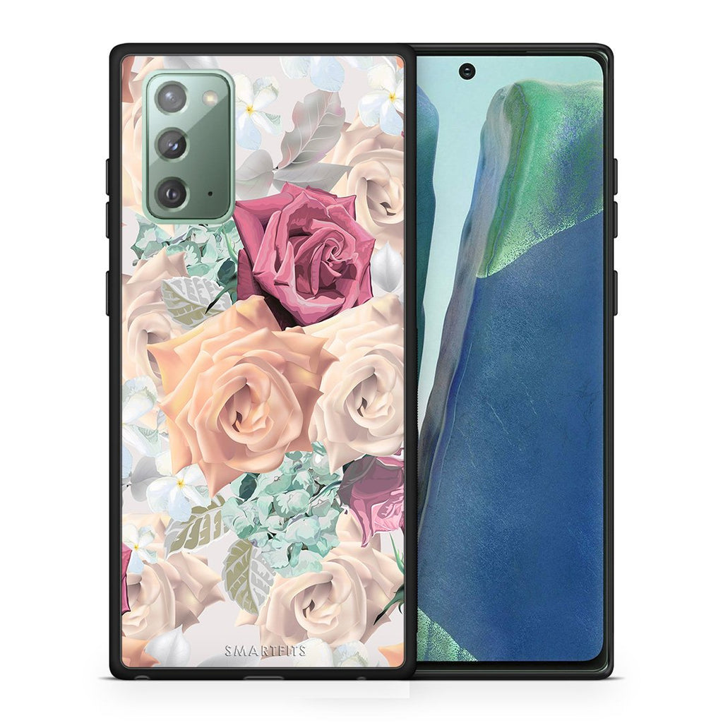 Θήκη Samsung Note 20 Bouquet Floral από τη Smartfits με σχέδιο στο πίσω μέρος και μαύρο περίβλημα | Samsung Note 20 Bouquet Floral case with colorful back and black bezels