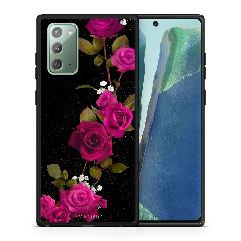 4 - Samsung Note 20 Red Roses Flower case, cover, bumper
