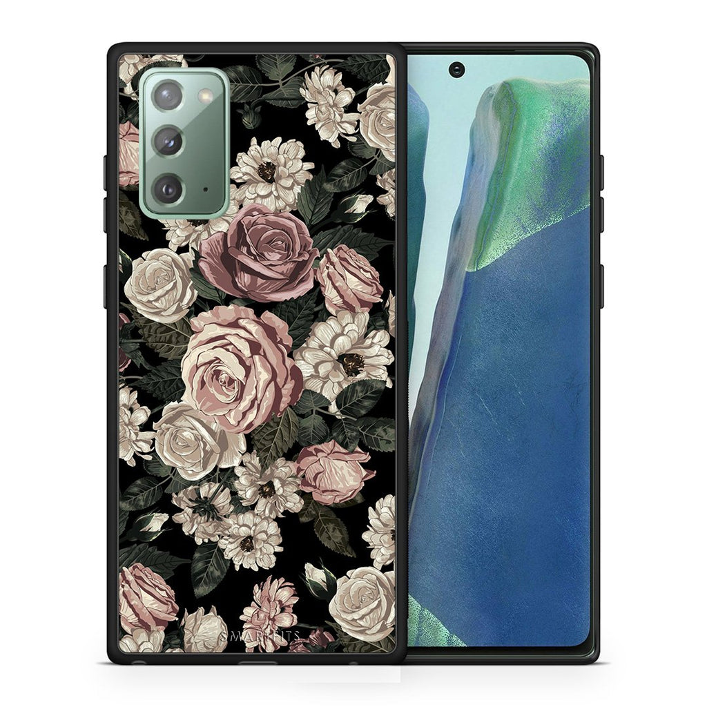 Θήκη Samsung Note 20 Wild Roses Flower από τη Smartfits με σχέδιο στο πίσω μέρος και μαύρο περίβλημα | Samsung Note 20 Wild Roses Flower case with colorful back and black bezels